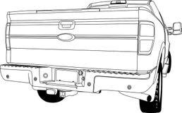 Samochodu widoku tylny kontur ilustracja wektor