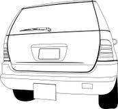 Samochodu widoku tylny kontur ilustracji