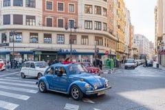Samochodu wiec w Walencja Hiszpania na Luty 24, 2019 Niezidentyfikowani ludzie fotografia stock