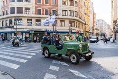 Samochodu wiec w Walencja Hiszpania na Luty 24, 2019 Niezidentyfikowani ludzie obraz stock