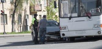 Samochodu wypadek samochodowy obraz royalty free