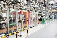 Samochodu zgromadzenie sklepu panorama Fotografia Stock