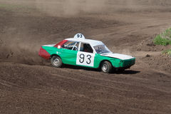 samochodu zieleni rasy przetrwania biel Zdjęcia Stock