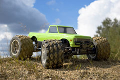 samochodu zielona potwora rc ciężarówka Zdjęcia Stock