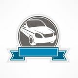 Samochodu znak na bielu Obraz Stock