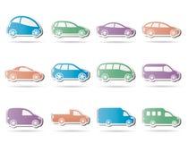 samochodów różni ikon typ Obrazy Stock
