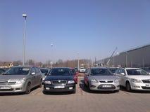 samochodów zaparkowanych Obrazy Royalty Free