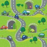 samochody bezszwowy wzoru Obrazy Royalty Free