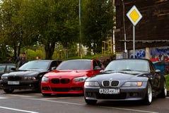 Samochody BMW 5, 3, 6, X3, X5, X6 serie, niemiec Zdjęcie Royalty Free