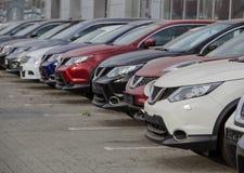 Samochody Dla sprzedaż zapasu udziału rzędu obraz royalty free