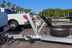 Samochody dostawczy z przyczepami dla łodzi Fotografia Royalty Free