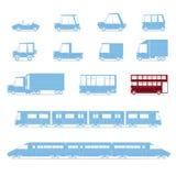 Samochody kolekcja, pojazdy w kreskówki mieszkaniu style_2 Zdjęcie Stock
