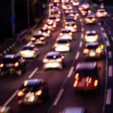Samochody na autostradzie (bokeh skutek) obraz royalty free