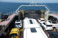 Samochody na ferryboat Fotografia Royalty Free
