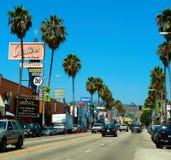 Samochody na miasto drodze Fotografia Stock