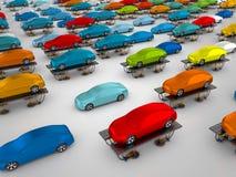 Samochody na pojazdów dźwignięciach ilustracji