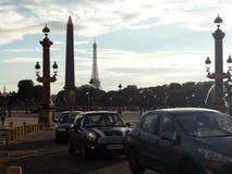 Samochody na ulicach Paryż obrazy stock