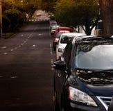 Samochody na ulicie obrazy stock