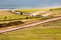 Samochody Na wiejskich drogach zdjęcie stock