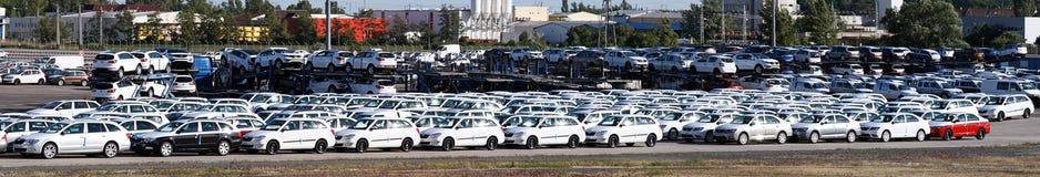 Samochody - panorama fotografia royalty free