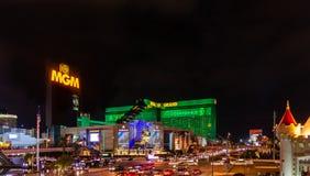 Samochody przy jeden środkowe ulicy Las Vegas fotografia stock