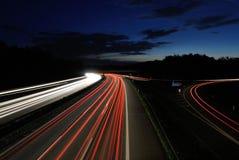 Samochody przy nocą Zdjęcie Royalty Free