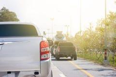 samochody przyskrzyniają drogowego ruch drogowy obrazy royalty free