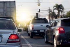 samochody przyskrzyniają drogowego ruch drogowy fotografia royalty free
