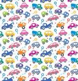 samochody przyskrzyniają drogowego ruch drogowy bezszwowy wzoru Obraz Royalty Free