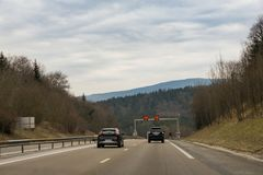 samochody przyskrzyniają drogowego ruch drogowy Obraz Royalty Free