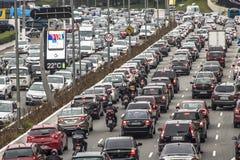 samochody są zajęte bezszwową asfaltowi ruchem tapetę wektora Zdjęcia Royalty Free