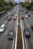 samochody są zajęte bezszwową asfaltowi ruchem tapetę wektora Obrazy Royalty Free