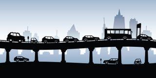 samochody są zajęte bezszwową asfaltowi ruchem tapetę wektora Obrazy Stock