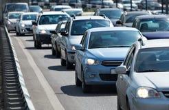 samochody są zajęte bezszwową asfaltowi ruchem tapetę wektora Obraz Stock