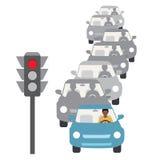 samochody są zajęte bezszwową asfaltowi ruchem tapetę wektora Obraz Royalty Free
