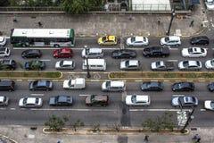 samochody są zajęte bezszwową asfaltowi ruchem tapetę wektora Zdjęcie Stock