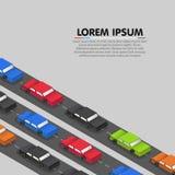 Samochody stoi w ruchu drogowego dżemu wektor ilustracja wektor