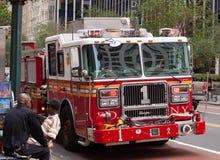Samochody strażaccy FDNY 1 w w centrum Manhattan Obraz Royalty Free