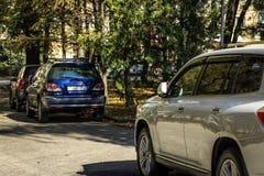 Samochody w jesieni zdjęcie royalty free