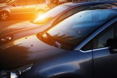 Samochody w ulicie Zdjęcia Stock