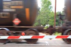samochody za szybką jazdę kolejowego Obrazy Royalty Free