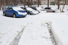 samochody zakrywali śnieg obrazy royalty free