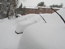 samochody zakrywali śnieg Styczeń 2016, usa Ð ' Obrazy Stock