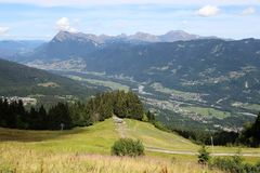 Samoens, French Alps royalty free stock photography