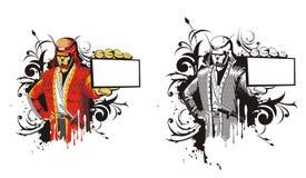 Samoeraien met rok Royalty-vrije Stock Afbeelding