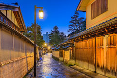 Samoeraiendistrict van Kanazawa, Japan stock foto's