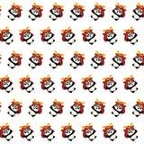 Samoeraienpanda - stickerpatroon 35 royalty-vrije illustratie
