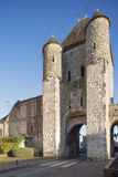 The Samois gate at Moret-sur-Loing Stock Photo