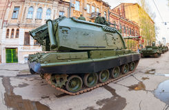 Samojezdny granatnik Msta- S Zdjęcie Stock