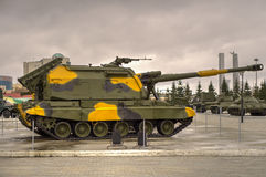 Samojezdny granatnik 2S19 Msta-S Obraz Stock